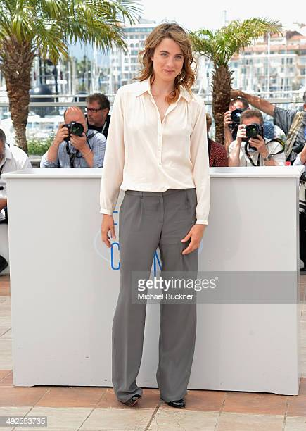 Actress Adele Haenel attends L'Homme Qu'On Aimait Trop photocall at the 67th Annual Cannes Film Festival on May 21 2014 in Cannes France