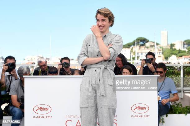 Actress Adele Haenel attends the 120 Beats Per Minute photocall during the 70th annual Cannes Film Festival at Palais des Festivals on May 20 2017 in...