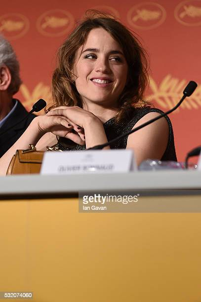 Actress Adele Haenel attends 'The Unknown Girl ' Press Conference during the 69th annual Cannes Film Festival at the Palais des Festivals on May 18...