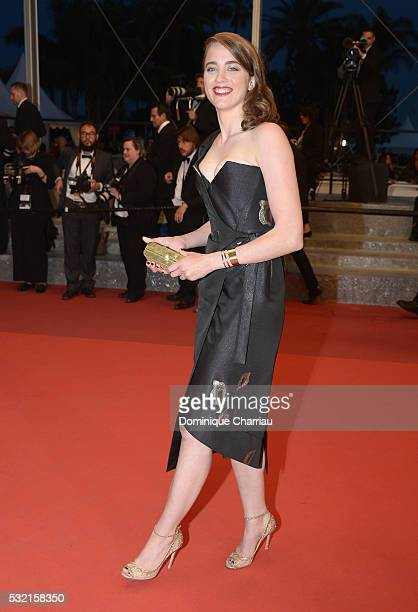 Actress Adele Haenel leaves The Unknown Girl Premiere during the 69th annual Cannes Film Festival at the Palais des Festivals on May 18 2016 in...