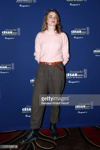 Actress Adele Haenel nominated for the Best Actress 'Cesar 2019' Award for the film 'EN LIBERTE' attends the Cesar 2019 Nominee Luncheon at Le...