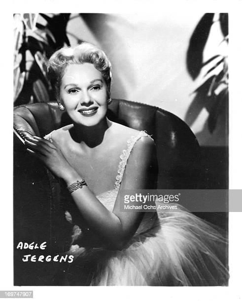 Actress Adele Jergens poses for a portrait in circa 1950