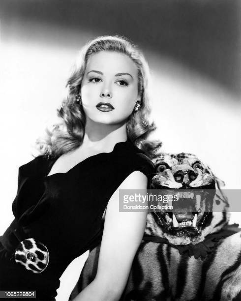 Actress Adele Mara in a scene from the movie 'The Tiger Woman'