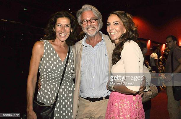Actress Adele Neuhauser and Adi Hirschal pose during the premiere for the film 'Planet Ottakring' at Lugner Lounge Kino on August 13 2015 in Vienna...