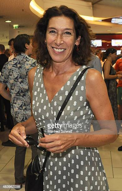 Actress Adele Neuhauser arrives to the premiere for the film 'Planet Ottakring' at Lugner Lounge Kino on August 13 2015 in Vienna Austria