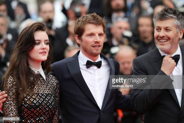 Actress Adele Wismes actor Pierre Deladonchamps and director Christophe Honore attends the screening of 'Sorry Angel ' during the 71st annual Cannes...
