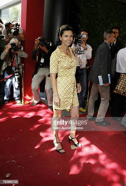 Actress Adeline Blondieau arrives at the TF1 annual press conference held at the Olympia on August 29 2007 in Paris France Photo by