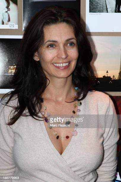 Actress Adeline Blondieau attends the first 'Hotel de Sers' photo Award at Hotel de Sers on December 14 2011 in Paris France
