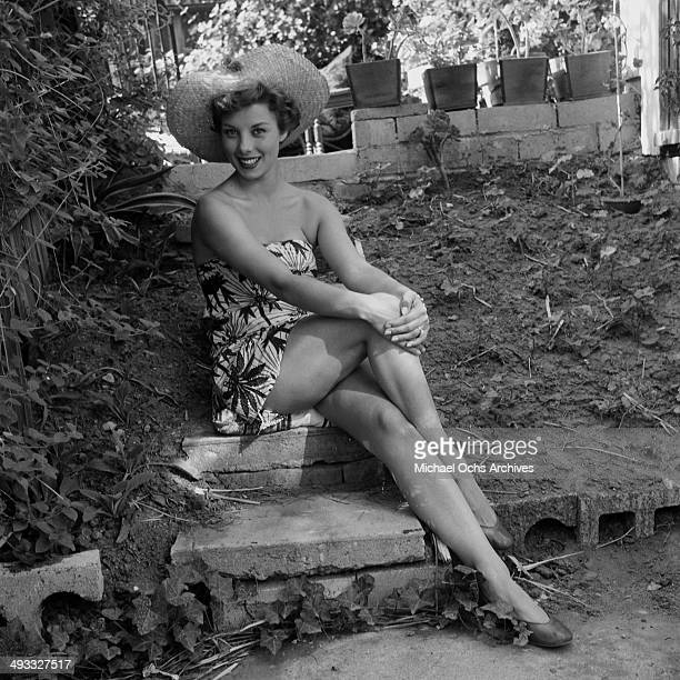 Actress Adelle August poses at home in Los Angeles California