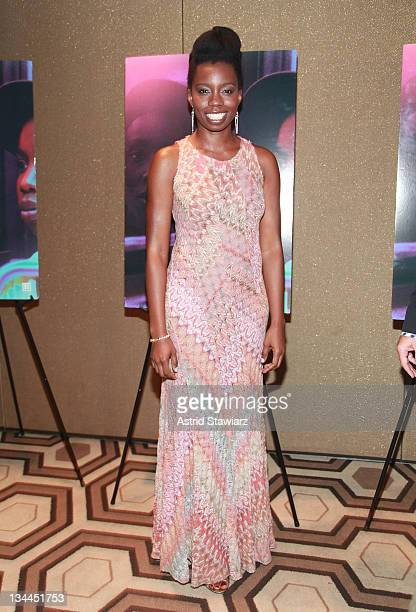 """Actress Adepero Oduye attends the """"Pariah"""" premiere at the Tribeca Grand Hotel on December 1, 2011 in New York City."""