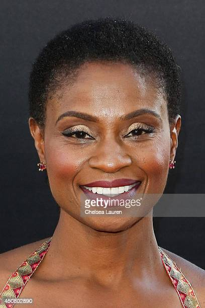 Actress Adina Porter arrives at HBO's 'True Blood' final season premiere at TCL Chinese Theatre on June 17 2014 in Hollywood California