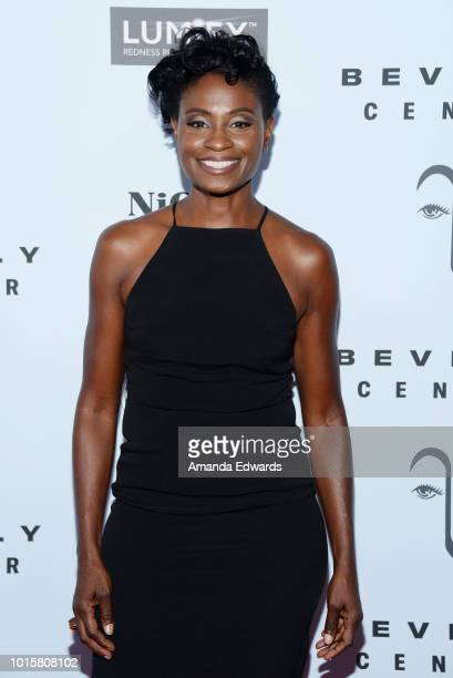 Actress Adina Porter arrives at the MakeUp Artists and Hair Stylists Guild Reception at The Beverly Center on August 12 2018 in Los Angeles California