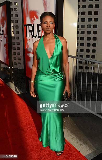 Actress Adina Porter arrives at the premiere of HBO 'True Blood' season 5 premiere held at ArcLight Cinemas Cinerama Dome on May 30 2012 in Hollywood...