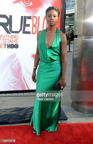Actress Adina Porter arrives at the Premiere of HBO's 'True Blood' 5th Season at ArcLight Cinemas Cinerama Dome on May 30 2012 in Hollywood California