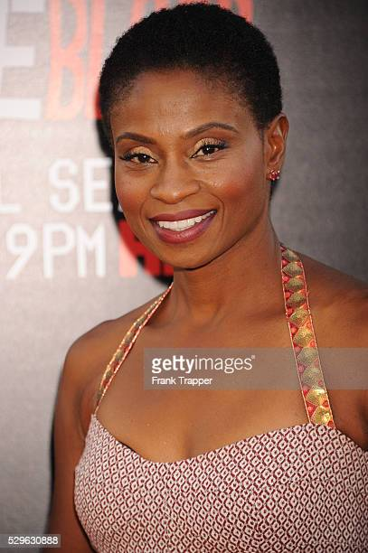 Actress Adina Porter arrives at the premiere of HBO's 'True Blood' season 7 and final season held at TCL Chinese Theatre in Hollywood