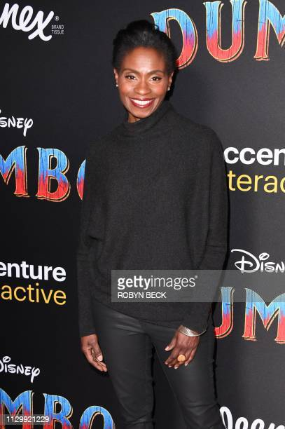 US actress Adina Porter arrives for the world premiere of Disney's 'Dumbo' at El Capitan theatre on March 11 2019 in Hollywood