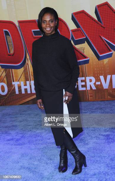 Actress Adina Porter arrives for the World Premiere Of Sony Pictures Animation And Marvel's 'SpiderMan Into The SpiderVerse' held at Regency Village...