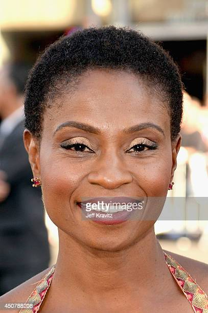 Actress Adina Porter attends HBO 'True Blood' season 7 premiere at TCL Chinese Theatre on June 17 2014 in Hollywood California