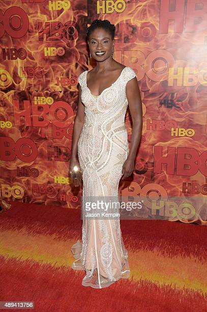 Actress Adina Porter attends HBO's Official 2015 Emmy After Party at The Plaza at the Pacific Design Center on September 20 2015 in Los Angeles...