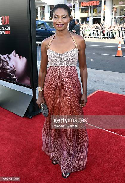 Actress Adina Porter attends Premiere Of HBO's True Blood Season 7 And Final Season at TCL Chinese Theatre on June 17 2014 in Hollywood California