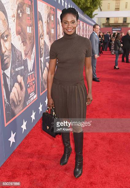 Actress Adina Porter attends the 'All The Way' Los Angeles Premiere at Paramount Studios on May 10 2016 in Hollywood City