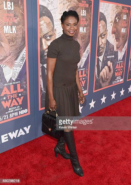 Actress Adina Porter attends the All The Way Los Angeles Premiere at Paramount Studios on May 10 2016 in Hollywood City