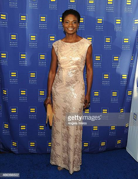 Actress Adina Porter attends the Human Rights Campaign Los Angeles Gala 2015 at JW Marriott Los Angeles at LA LIVE on March 14 2015 in Los Angeles...