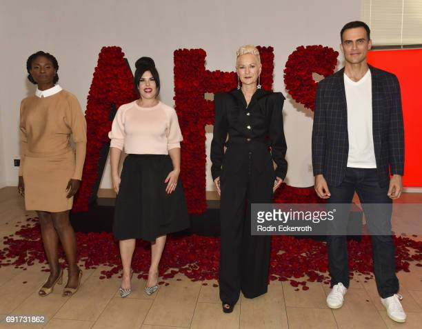 Actress Adina Porter Executive Producer Alexis Martin Woodall Costume Designer Lou Eryich and actor Cheyenne Jackson pose for portrait at the...