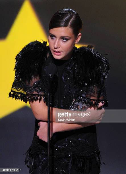 Actress Adèle Exarchopoulos accepts the Best Young Actor/Actress award for Blue Is the Warmest Colour onstage during the 19th Annual Critics' Choice...