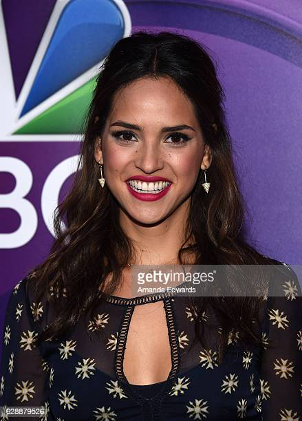 Actress Adria Arjona attends a photo call for NBC's new series 'Emerald City' at the Universal Studios Backlot on December 9 2016 in Universal City...