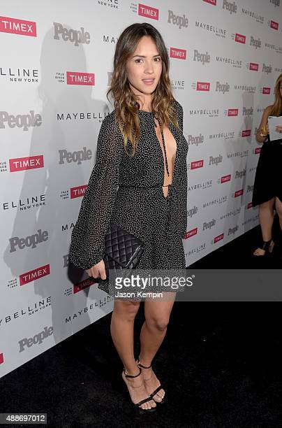 Actress Adria Arjona attends PEOPLE's Ones To Watch Event on September 16 2015 in West Hollywood California