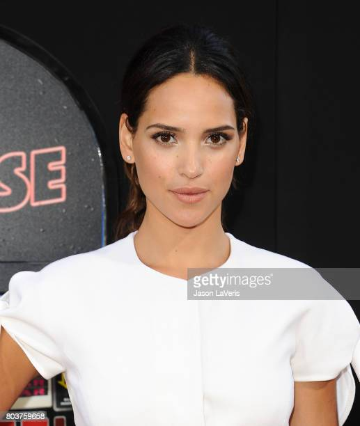 Actress Adria Arjona attends the premiere of 'The House' at TCL Chinese Theatre on June 26 2017 in Hollywood California