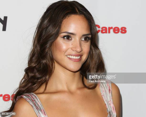 Actress Adria Arjona attends the screening of The Belko Experiment at Aero Theatre on March 3 2017 in Santa Monica California