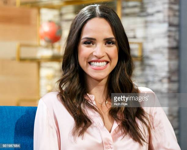 Actress Adria Arjona visits 'The IMDb Show' on March 8 2018 in Studio City California This episode of 'The IMDb Show' airs on March 15 2018