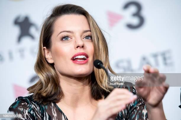 Actress Adrian Torrebejano at the press conference of La sombra de la ley during the 51 edition of Festival Internacional de Cinema Fantastic de...