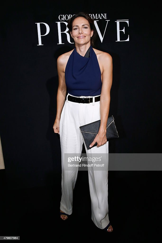 Actress Adriana Abascal attends the Giorgio Armani Prive show as part of Paris Fashion Week Haute-Couture Fall/Winter 2015/2016. Held at Palais de Chaillot on July 7, 2015 in Paris, France.