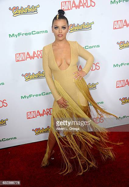 Actress Adriana Chechik arrives at the 2017 Adult Video News Awards held at the Hard Rock Hotel Casino on January 21 2017 in Las Vegas Nevada
