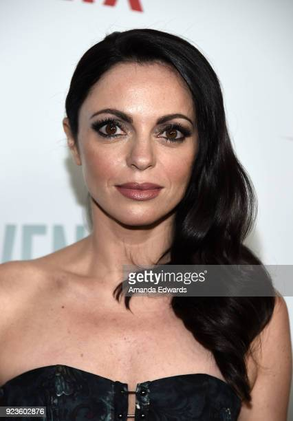 Actress Adriana DeMeo arrives at Netflix's 'Seven Seconds' Premiere at The Paley Center for Media on February 23 2018 in Beverly Hills California