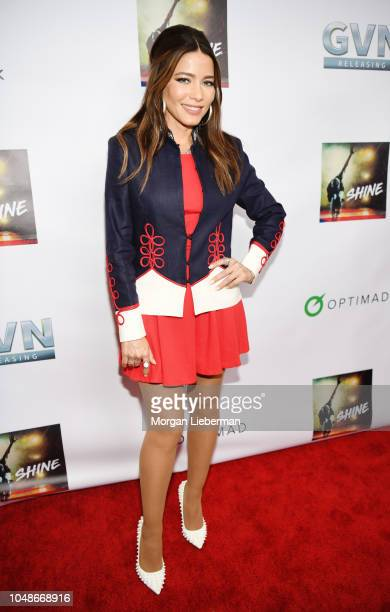 Actress Adriana Fonseca arrives at premiere of GVN Releasing's 'Shine' at at Harmony Gold on October 2 2018 in Los Angeles California