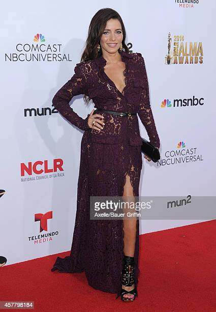 Actress Adriana Fonseca arrives at the 2014 NCLR ALMA Awards at Pasadena Civic Auditorium on October 10 2014 in Pasadena California