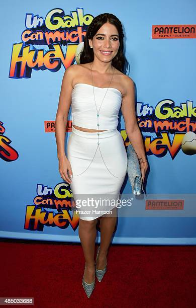 Actress Adriana Fonseca arrives at the Un Gallo Con Muchos Huevos US Premiere at Regal Cinemas LA Live on August 23 2015 in Los Angeles California