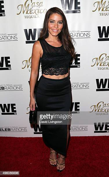 Actress Adriana Fonseca attends Mario Lopez introducing Casa Mexico Tequila on WE tv's David Tutera CELEBrations at Beso on November 6 2015 in...