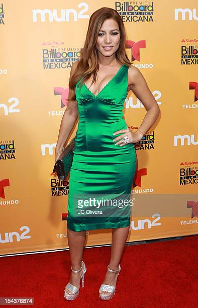 Actress Adriana Fonseca attends the 2012 Billboard Mexican Music Awards Telemundo Official After Party at The Edison on October 18 2012 in Los...