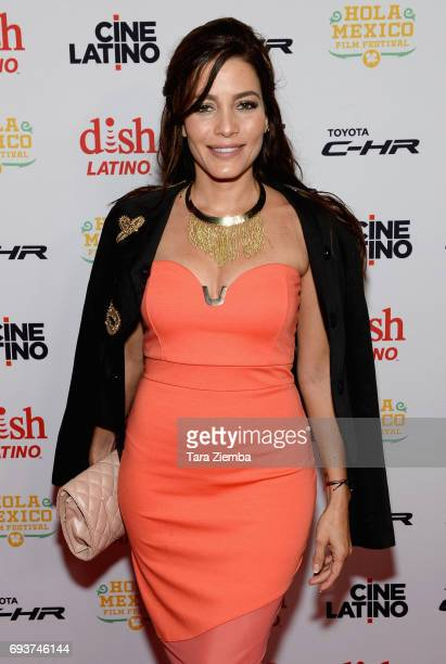 Actress Adriana Fonseca attends the 9th Annual Hola Mexico Film Festival opening ceremony and screening of 'La Vida Inmoral De La Pareja Ideal' at...