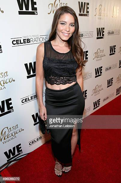 Actress Adriana Fonseca attends the launch of WE tv's David Tutera CELEBrations and Casa Mexico Tequila on November 6 2015 in Hollywood California