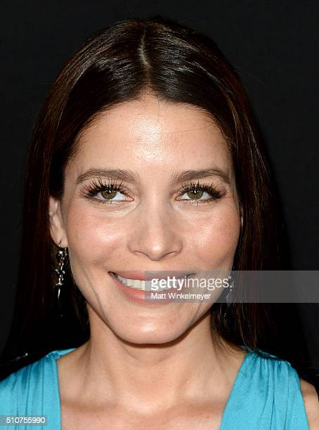 Actress Adriana Fonseca attends the premiere of Open Road's 'Triple 9' at Regal Cinemas LA Live on February 16 2016 in Los Angeles California