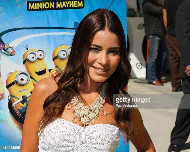 Actress Adriana Fonseca attends the the premiere of the new 3D Ultra HD digital animation adventure 'Despicable Me Minion Mayhem' at Universal...