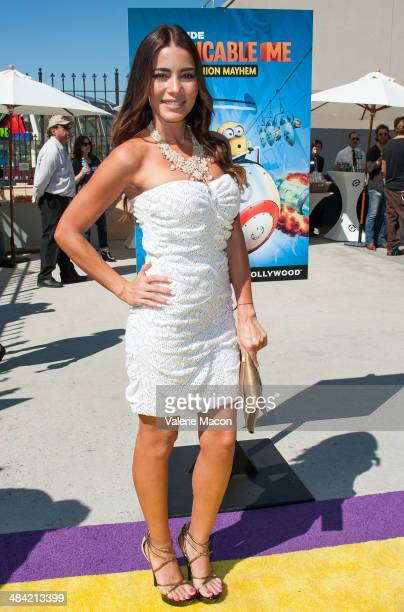 Actress Adriana Fonseca attends Universal Studios Hollywood Celebrates The Premiere Of New 3D Ultra HD digital Animation Adventure 'Despicable Me...