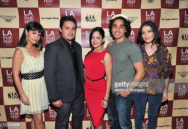 Actress Adriana Fricke actor Jesse Garcia actress Veronica DiazCarranza actor EJ Bonilla and actress Stephanie Lugo attend the Mamitas Q A during the...