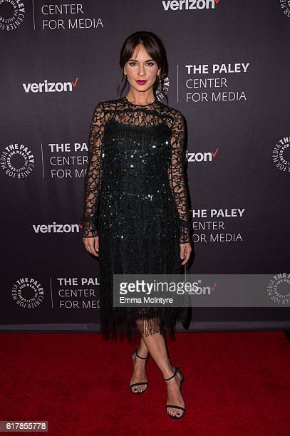 Actress Adriana Louvier arrives at The Paley Center for Media's Hollywood Tribute to Hispanic Achievements in Television event at the Beverly...